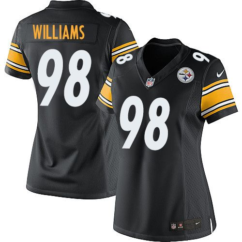 Men's Pittsburgh Steelers #98 Vince Williams Black Anthracite 2016 Salute To Service Stitched NFL Nike Limited Jersey