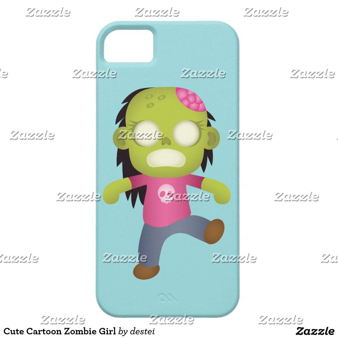 Cute Cartoon Zombie Girl