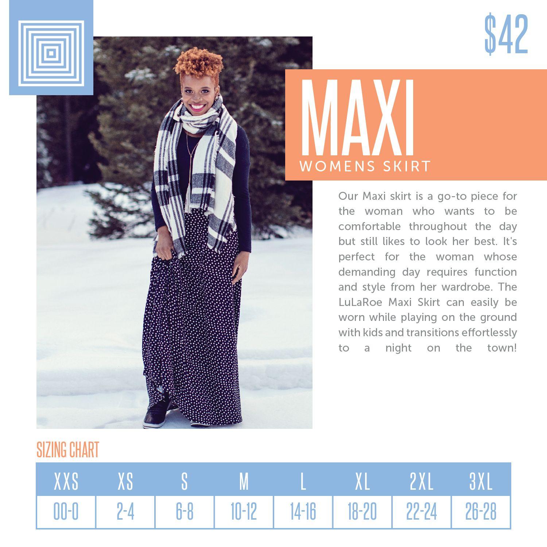 571f0ac5bad LuLaRoe Maxi Sizing Chart 2018