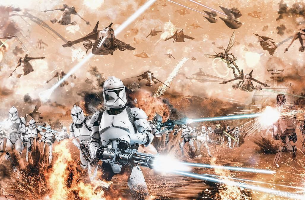 Star Wars Fanart Your Daily Dose Of Epic And Interesting Star Wars Art Subscribe Https Www Pinteres Star Wars Wallpaper Star Wars Pictures Battle Of Geonosis