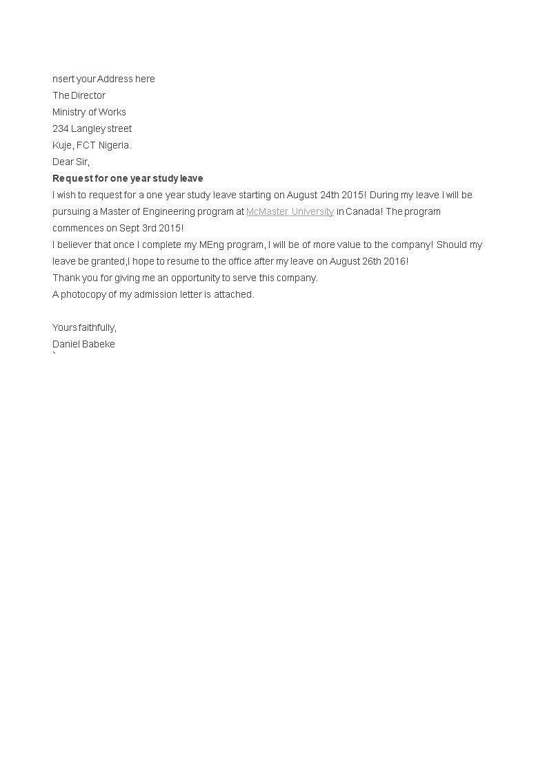 1e3ef8b128b55b61590057f7236b9a7a - Write An Application For Leave
