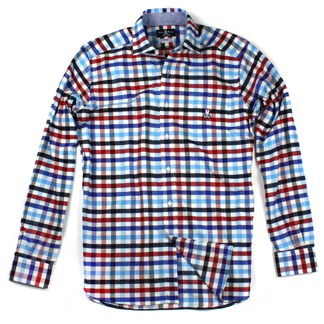Casual flannel outfits  Multi Check Flannel Shirt by PSYCHO BUNNY  The Royal Bloke