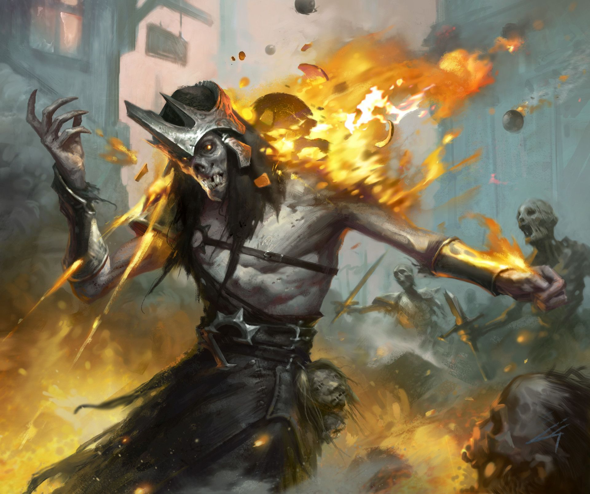Artstation epic card game grant griffin creature