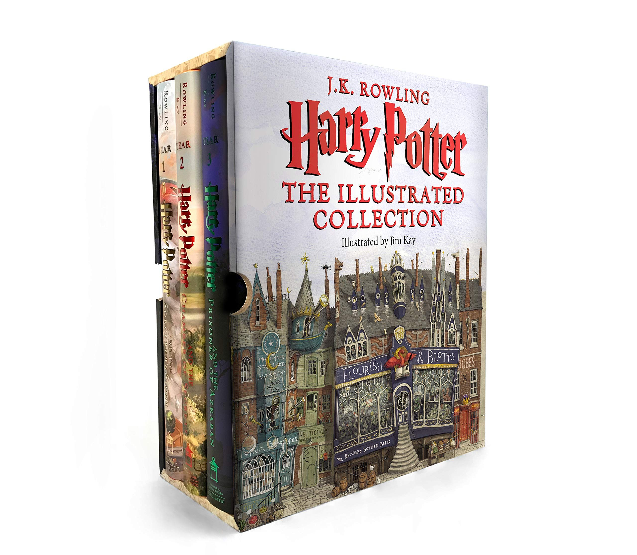 Harry Potter The Illustrated Collection Books 1 3 Boxed Set By Jk Rowling In 2020 Harry Potter Illustrations Harry Potter Gifts Harry Potter Books