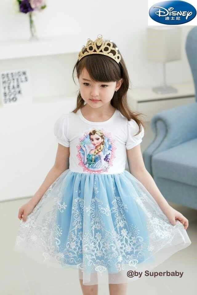 ELSA BLUE DRESS-01 | Dress Frozen with lace | RM36.00