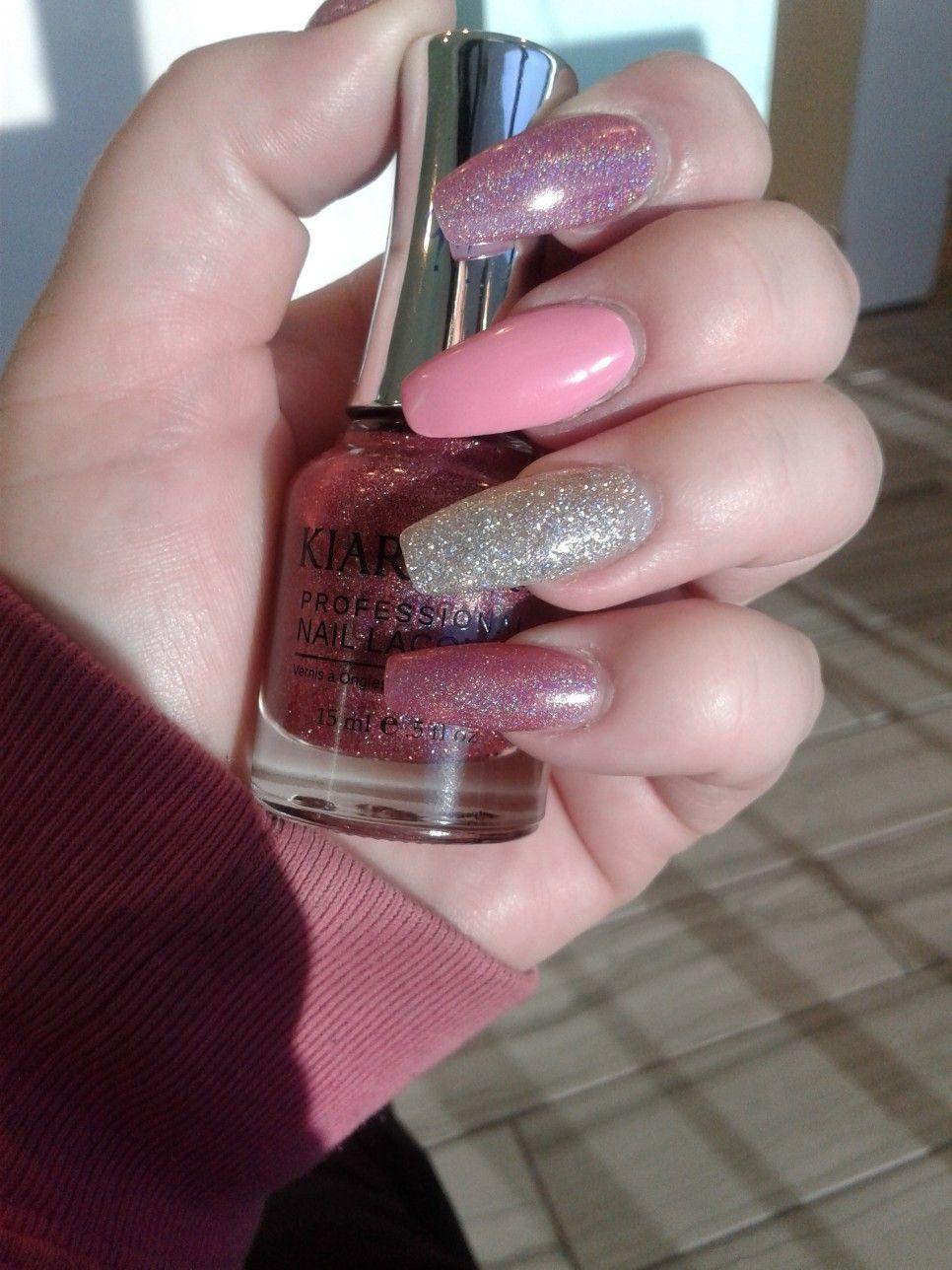 Kiara Sky Bubbly with Kiara Sky Strobe Light on ring finger and ...