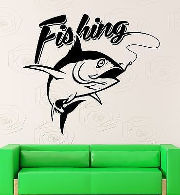 Wall Decal Fishing Fisherman Fish Hobbies Vinyl Stickers Art Mural - How to make vinyl wall decals with silhouette cameo