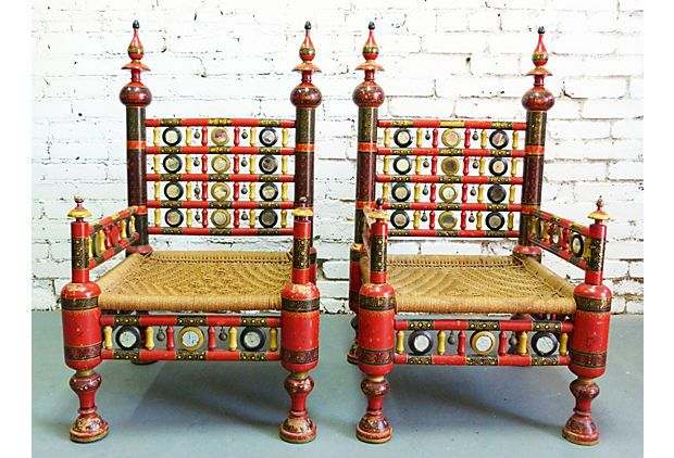 Indian Wedding Chairs Pair