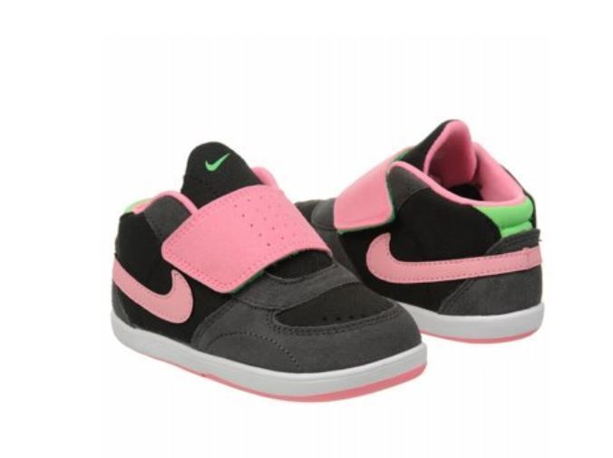 Nike Kids Girls Mavrk 3 Mid SMS Skate Shoes Toddler Sz 3C Gray Pink Green  NEW