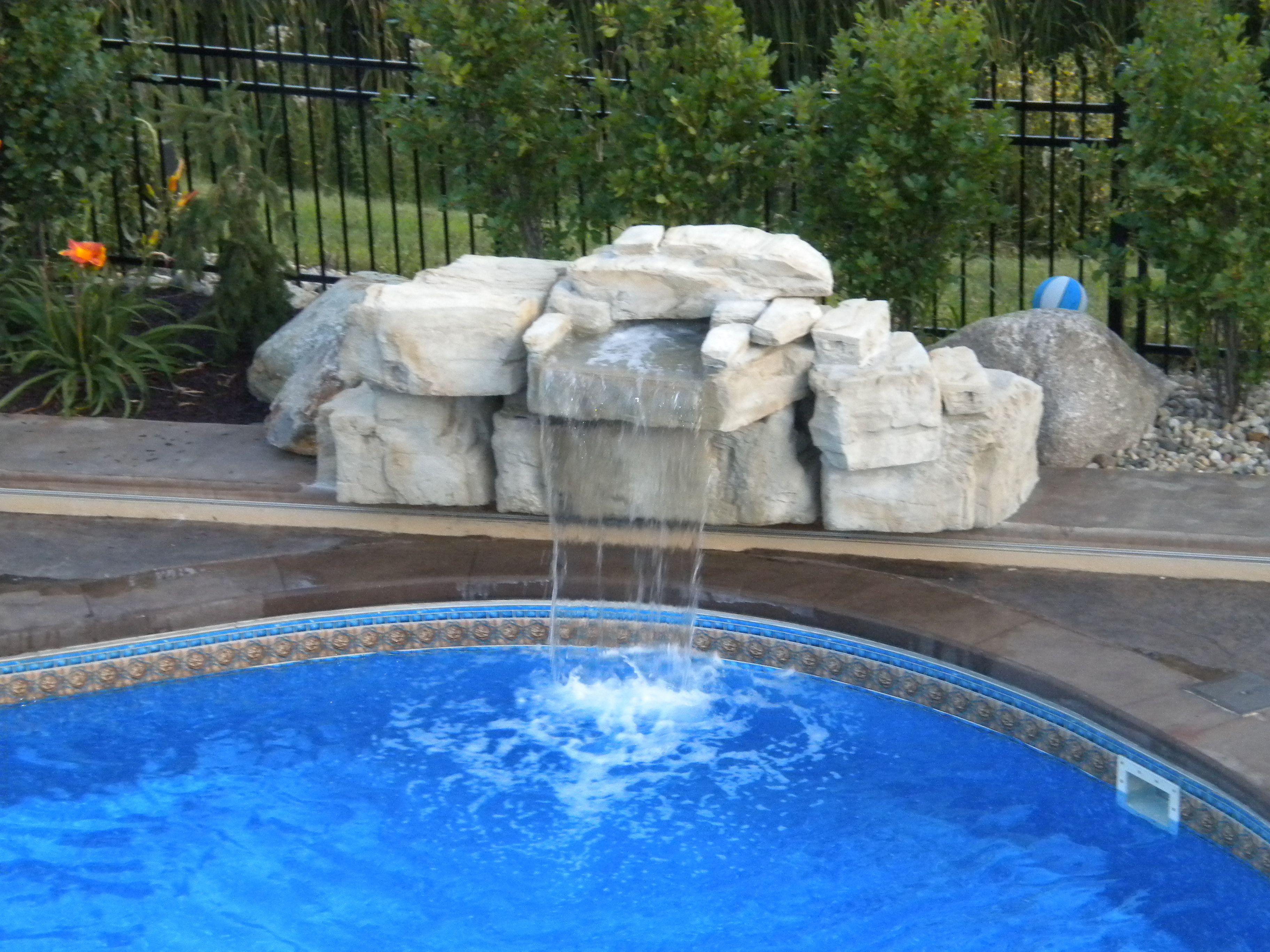 Mountain lake pool waterfall swimming pools by - Swimming pool waterfalls water features ...