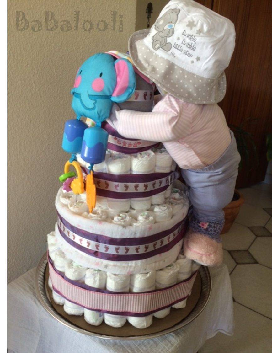 Diaper Cake - Full baby standing diaper cake