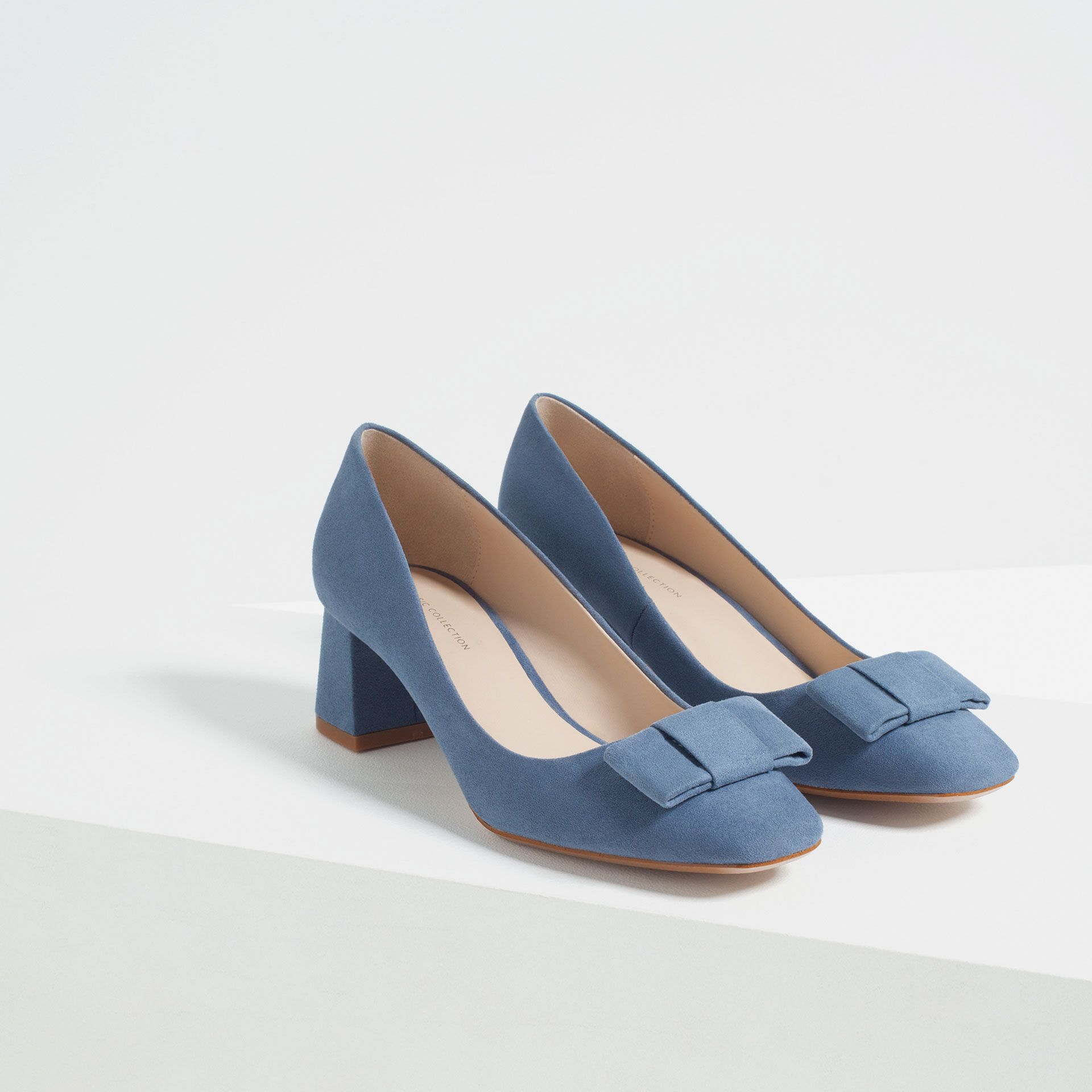 Image 3 of MEDIUM HEEL SHOES WITH BOW from Zara