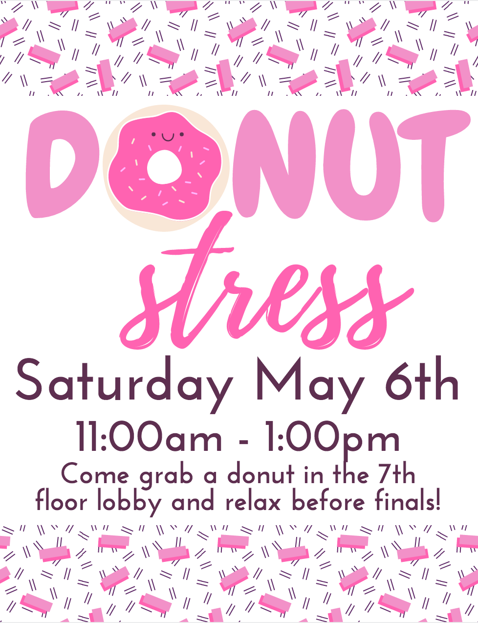Donut Stress RA Floor Event - get donuts before finals and have ...