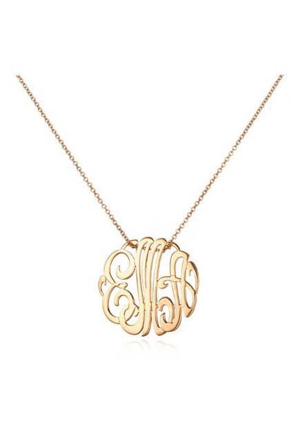 Monogram Necklace Jewelry
