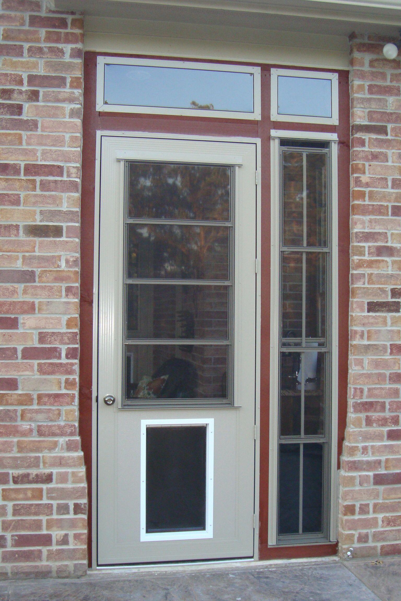 8u0027 cabana door with kick plate for large pet door & 8u0027 cabana door with kick plate for large pet door | Sun Room Door ...