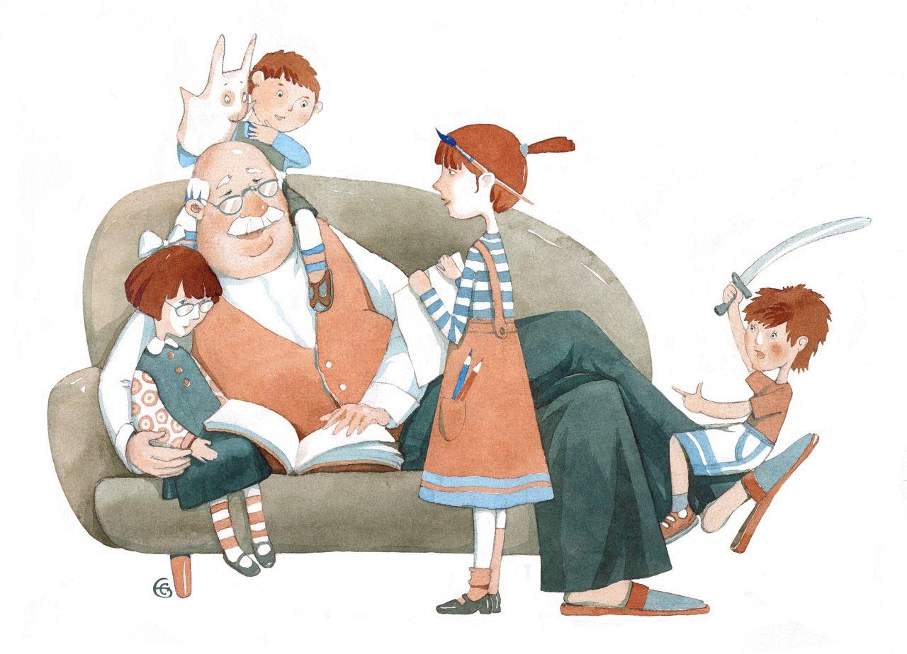 Прикольные картинки дедушка и бабушка