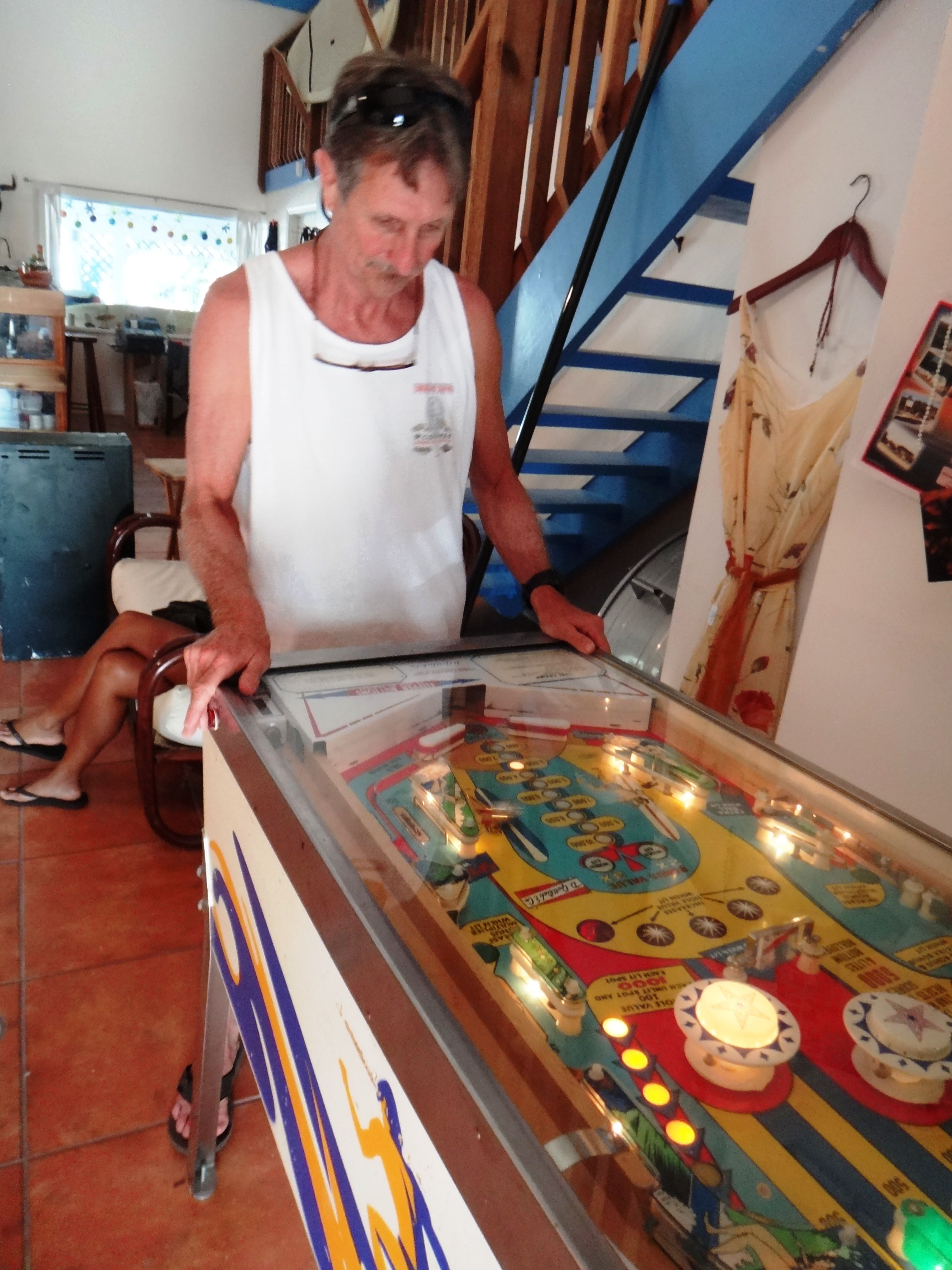 Hunter Joslin, President/Founder of IndoBoard, is addicted to the PinBall machine at Sebastian Inlet Surf and Sport! #ASurfingLife