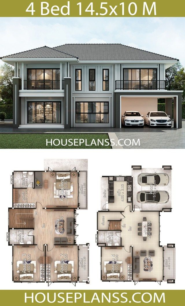 House Plans Idea 14 5x10 With 4 Bedrooms Home Ideassearch House Layout Plans House Plan Gallery Model House Plan