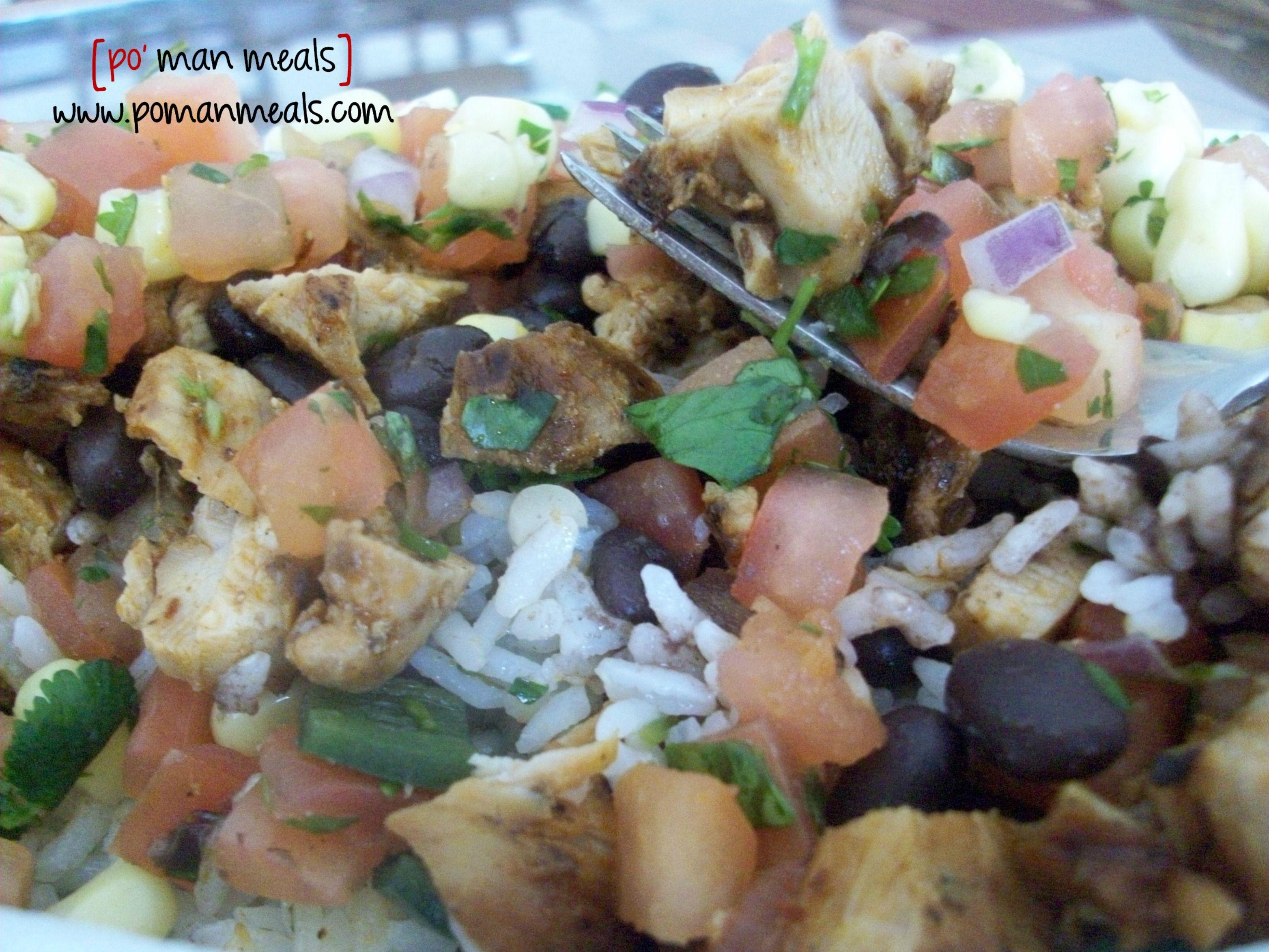Visit the post for more...Chicken Burrito Bowl...Chipotle cilantro lime rice , tomato salsa, grilled chicken etc.