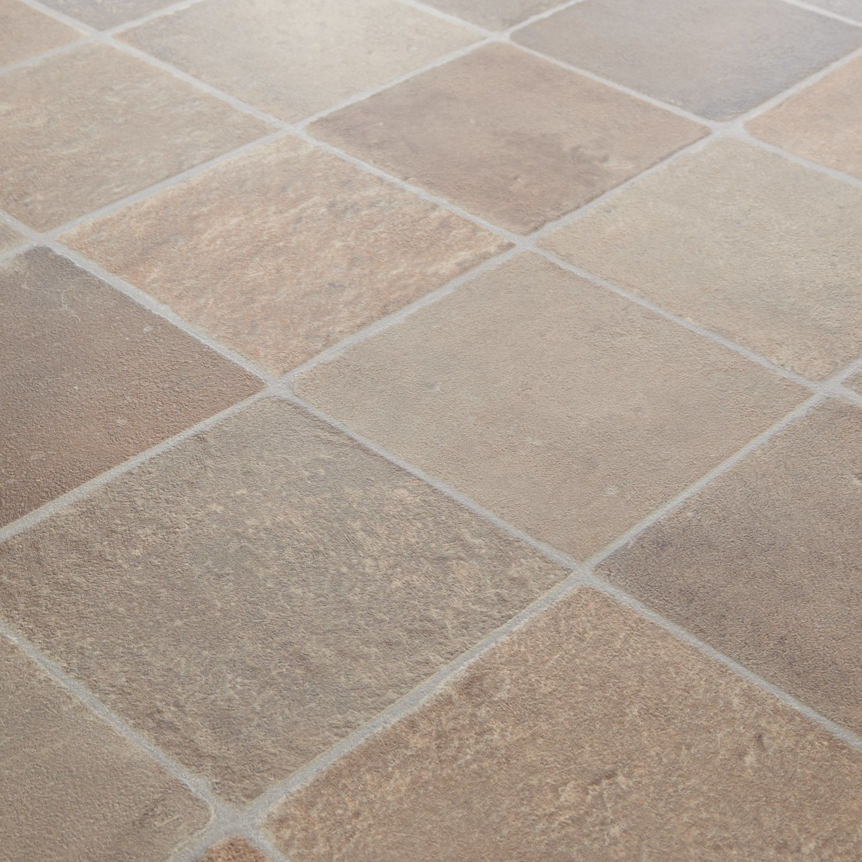 Rhino Classic Cottage Terracotta Stone Tile Vinyl Flooring