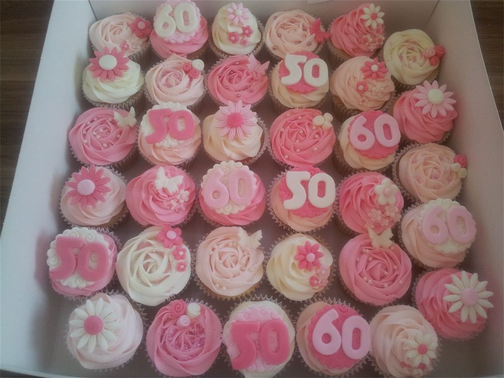 Cupcake Decorating Ideas For 60th Birthday : Birthday Cupcakes For Women Female 50th birthday cupcakes ...