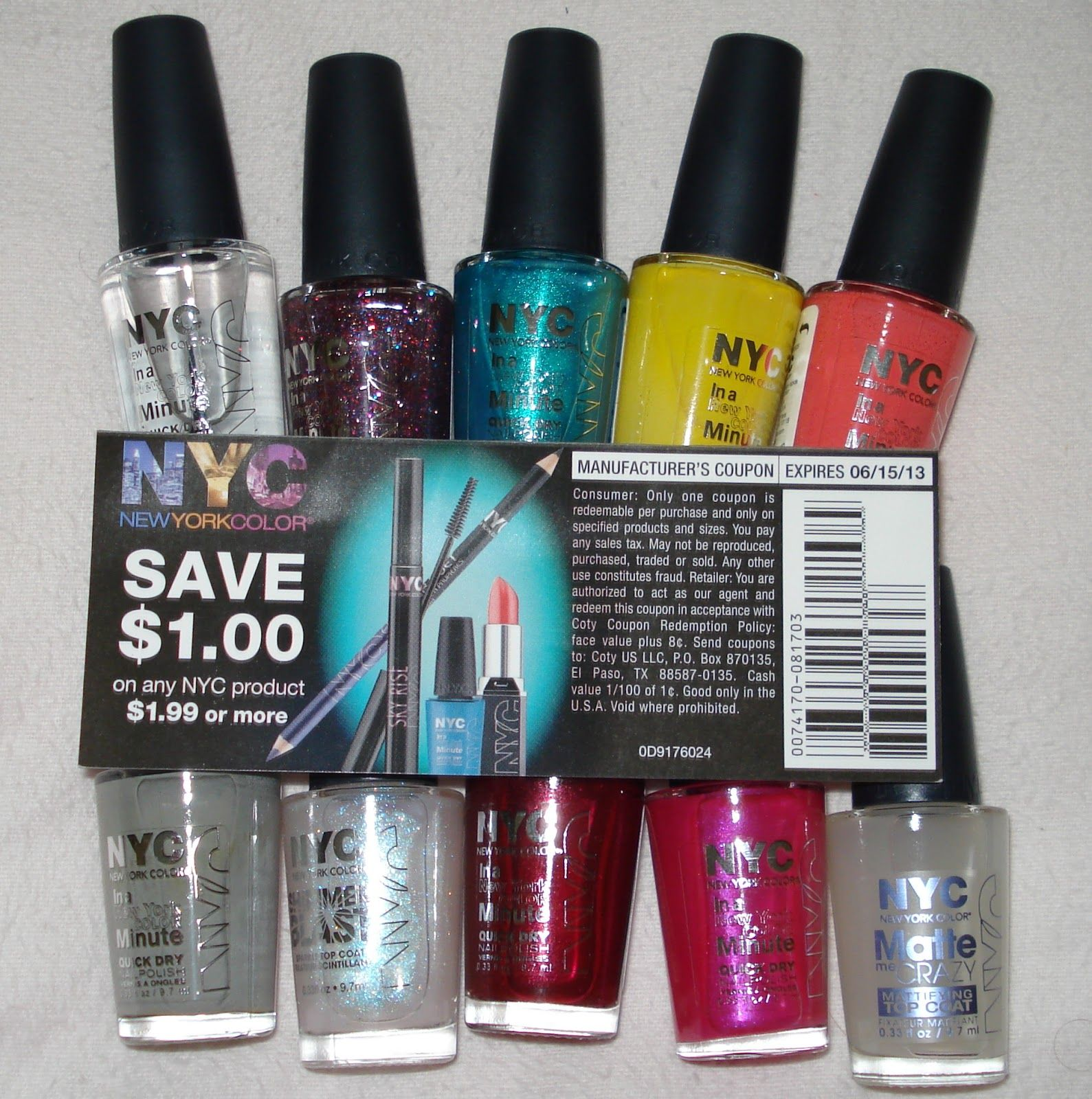 Some NYC cosmetics (nail polish, lip stick and other items) are ...