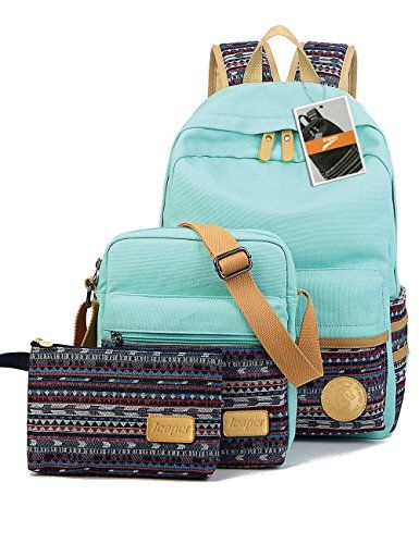 bdc134ce179c Leaper Casual Style Lightweight Canvas Laptop Bag   Cute backpacks + Shoulder  Bag   School Backpack
