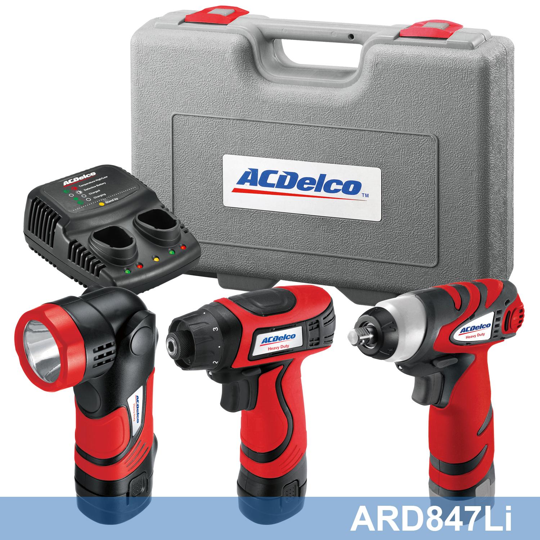 Acdelco Combo Kit Ard847li 8v 2 In 1 Driver Light Combo Kit With Ari810t Drill Driver Combo Kit Drill