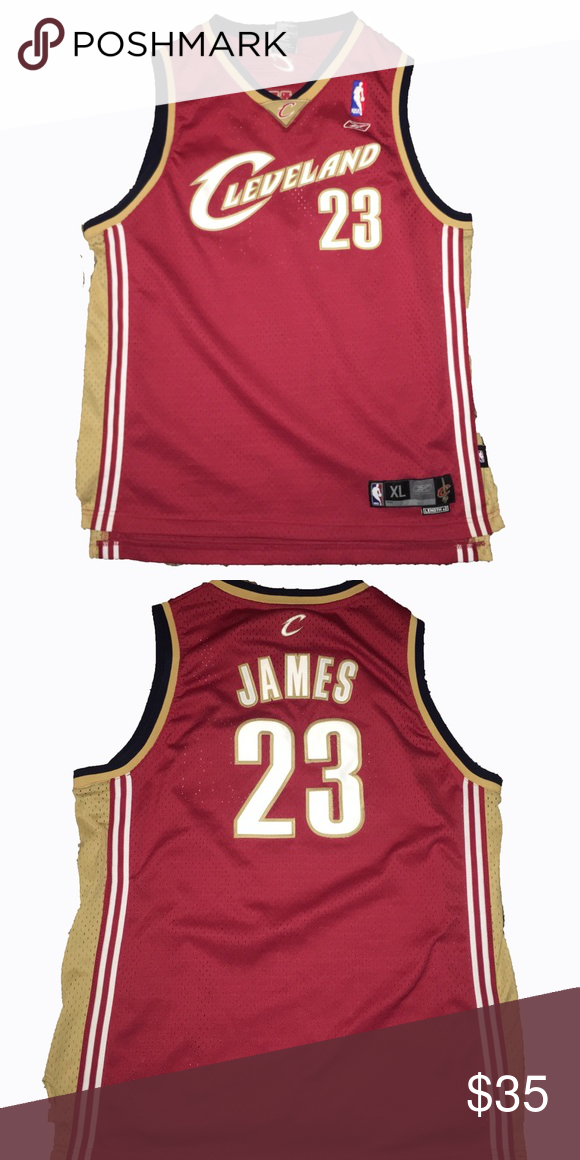 huge discount 7d942 1ae79 Authentic Reebok Lebron James Cavs Jersey Cleveland ...