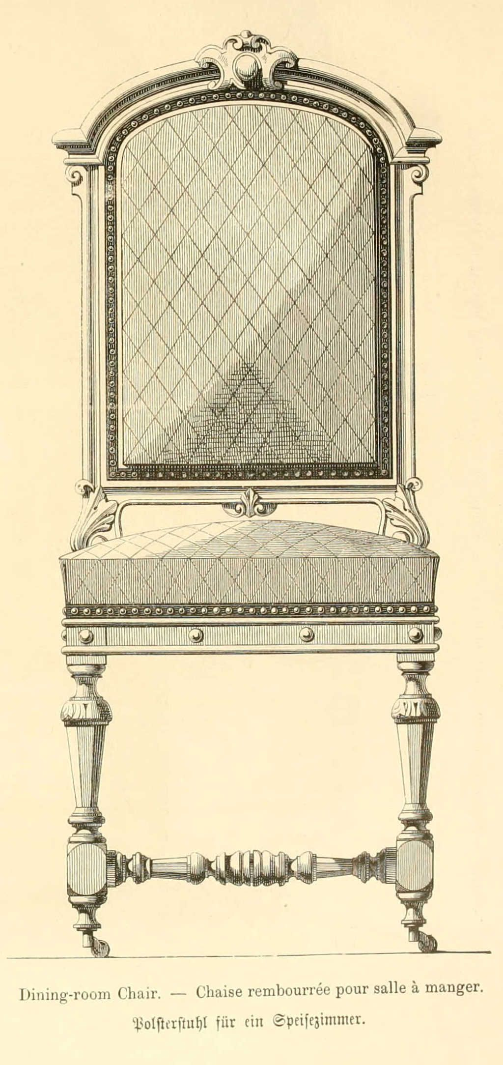 Img/dessins Meubles Mobilier/chaise Rembouree Pour Salle A Manger