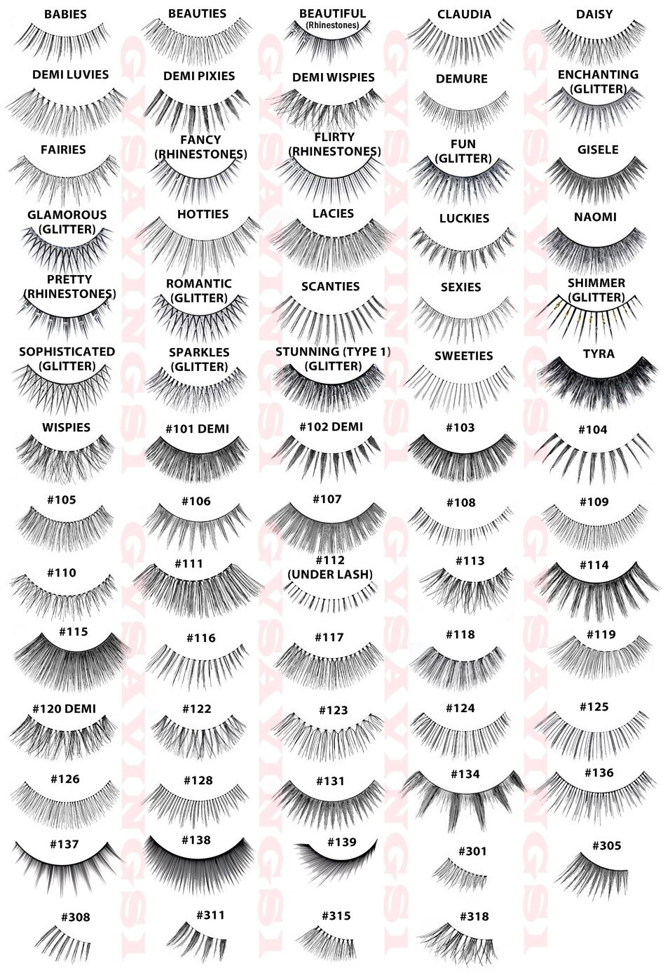 2adc35667bf This could mark the beginning of false lashes-hoarding... GUIDE to ARDELL  LASHES :: So handy! | #ardell #falsies #fakelashes