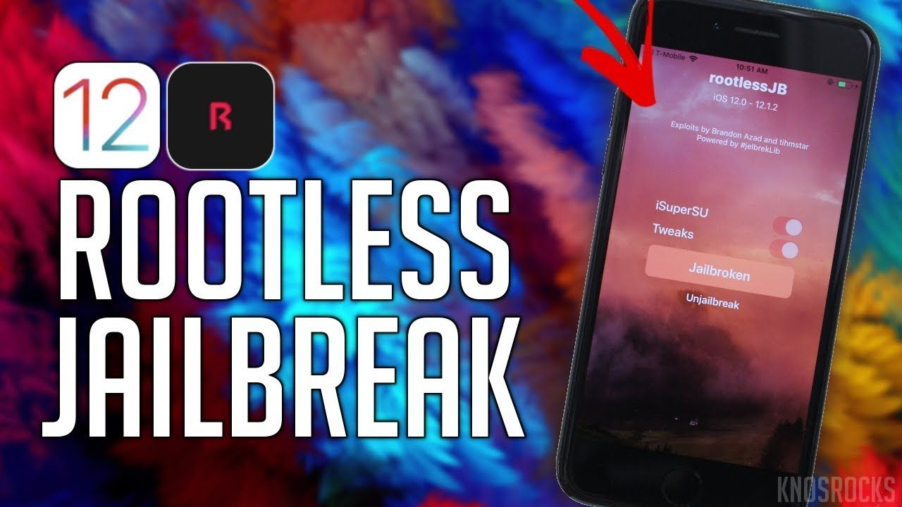 How To Jailbreak iOS 12 - 12 1 2 RootlessJB A9 - A11 No