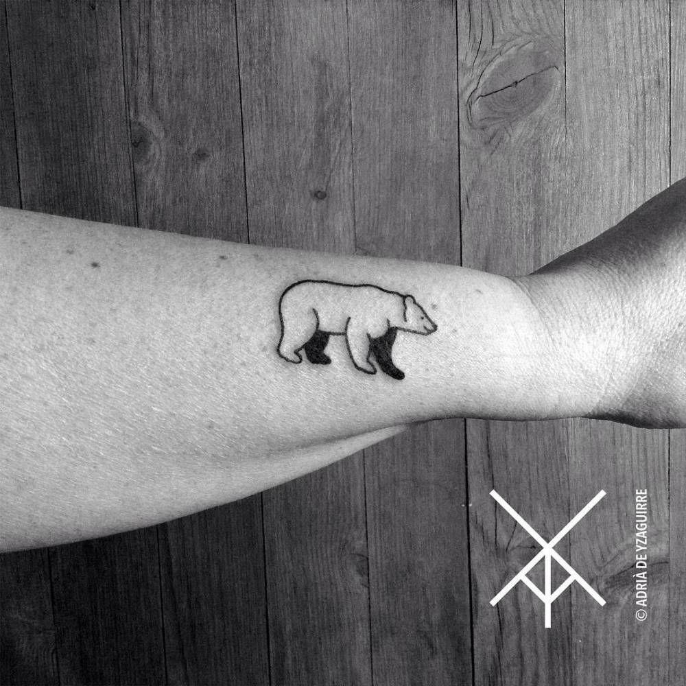 Bear Tattoo Small: Tiny Grizzly Bear For Angelika. Tattoo Artist: Adrià De