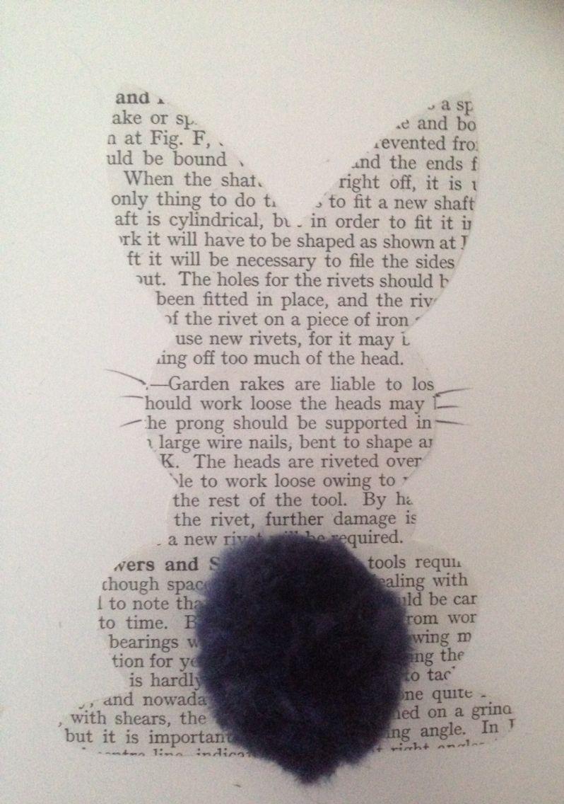 Easter card with felted pompon Lovetocraftblog.wordpress.com