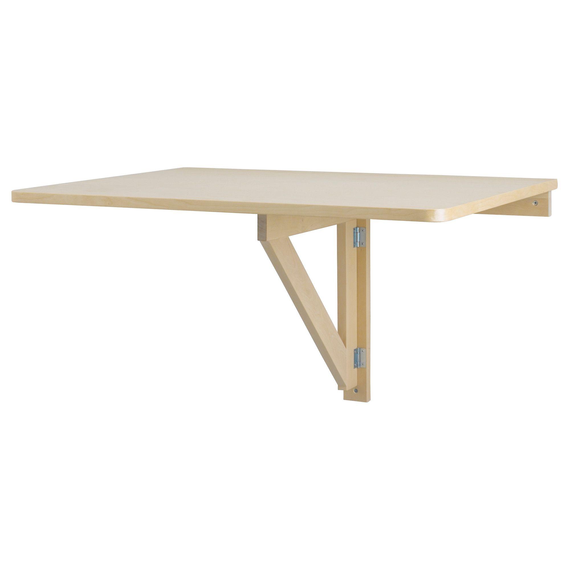 NORBO Mesa abatible de pared - abedul - IKEA    Ancho: 79 cm  fondo: 59 cm  profundidad máxima: 8 cm    29.99 €