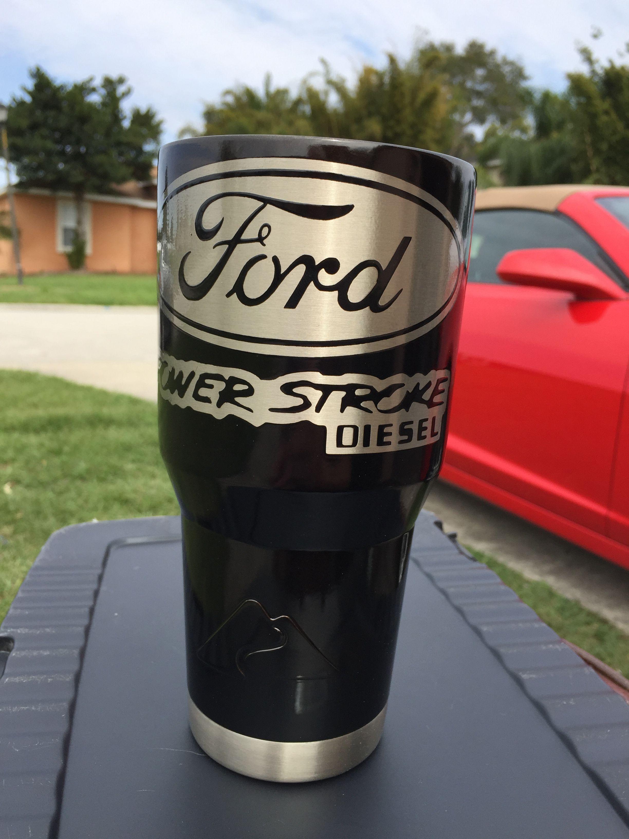 ford super duty power stroke diesel custom powder coated cups no
