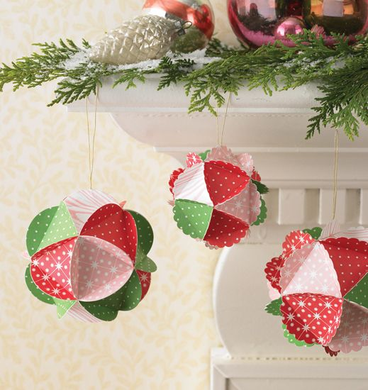 Martha Stewart Crafts - Holiday - Paper Kit - Ornament, CLEARANCE