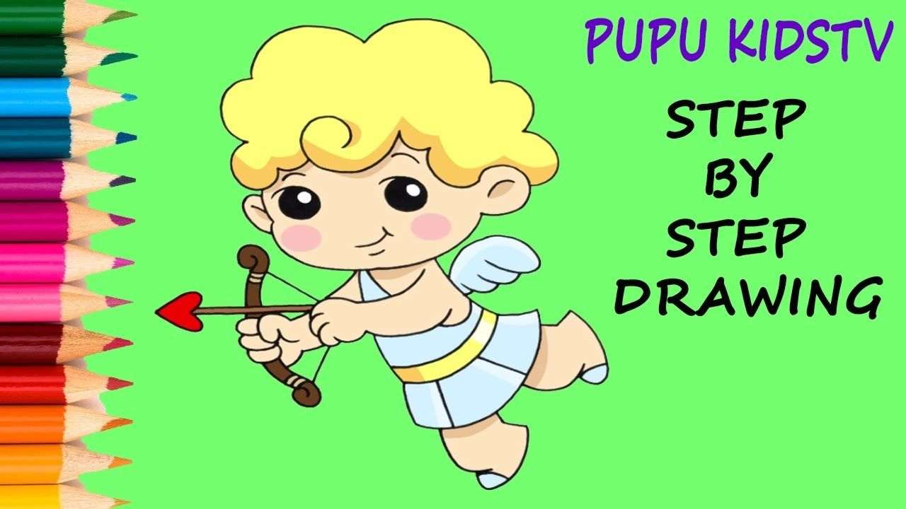 How to Draw Cupid - Art for kids - Coloring pages for kids ...