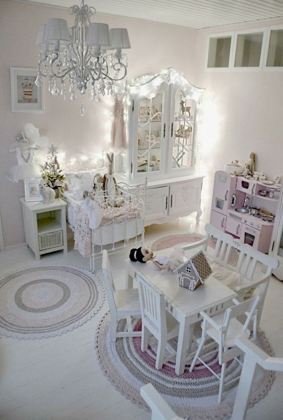 40 beautiful and cute shabby chic kids room designs digsdigs kids bedroom decor pinterest. Black Bedroom Furniture Sets. Home Design Ideas