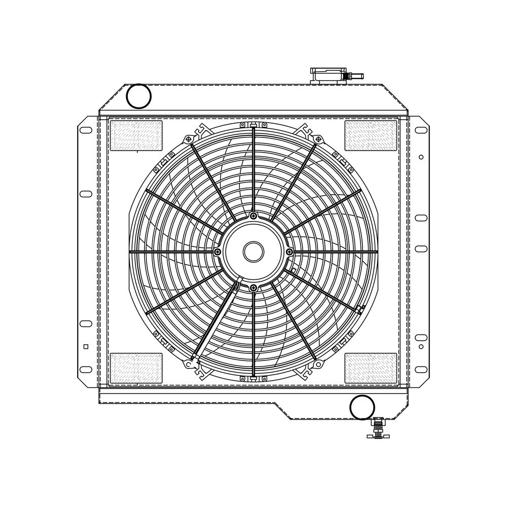 Griffin Off Road Combo Units Aluminum Shroud Spal Fan Wiring