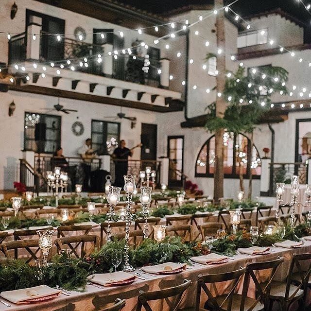 This reception setup, this venue, the band in the backdrop....are what dreams are made of ✨✨✨ via @strictlyweddings    @sunglowphoto    #laidbackbride #reception #lights