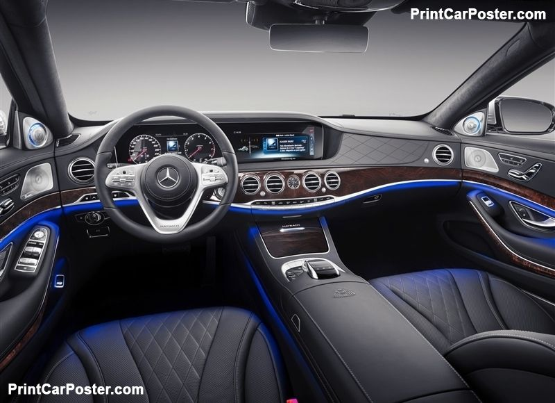 Mercedes Benz S Class Maybach 2019 Poster Mercedes Maybach