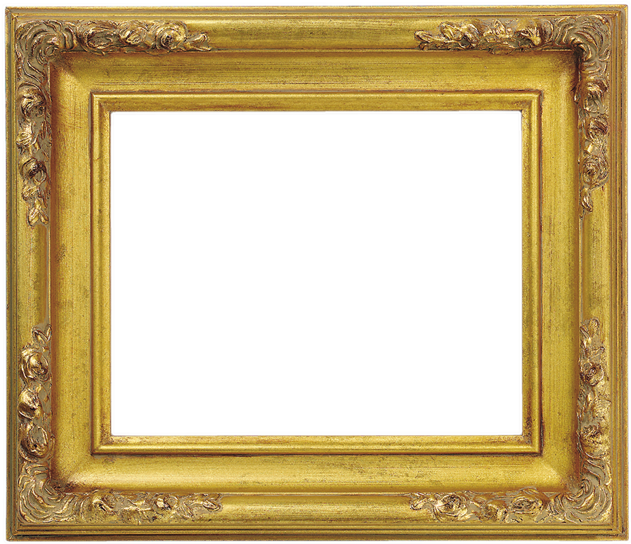 Light Gold Classic Readymade Gold Leaf With Antique Dusted Corners Wholesale Picture Frame 835 Wholesale Picture Frames Picture Frames Frame