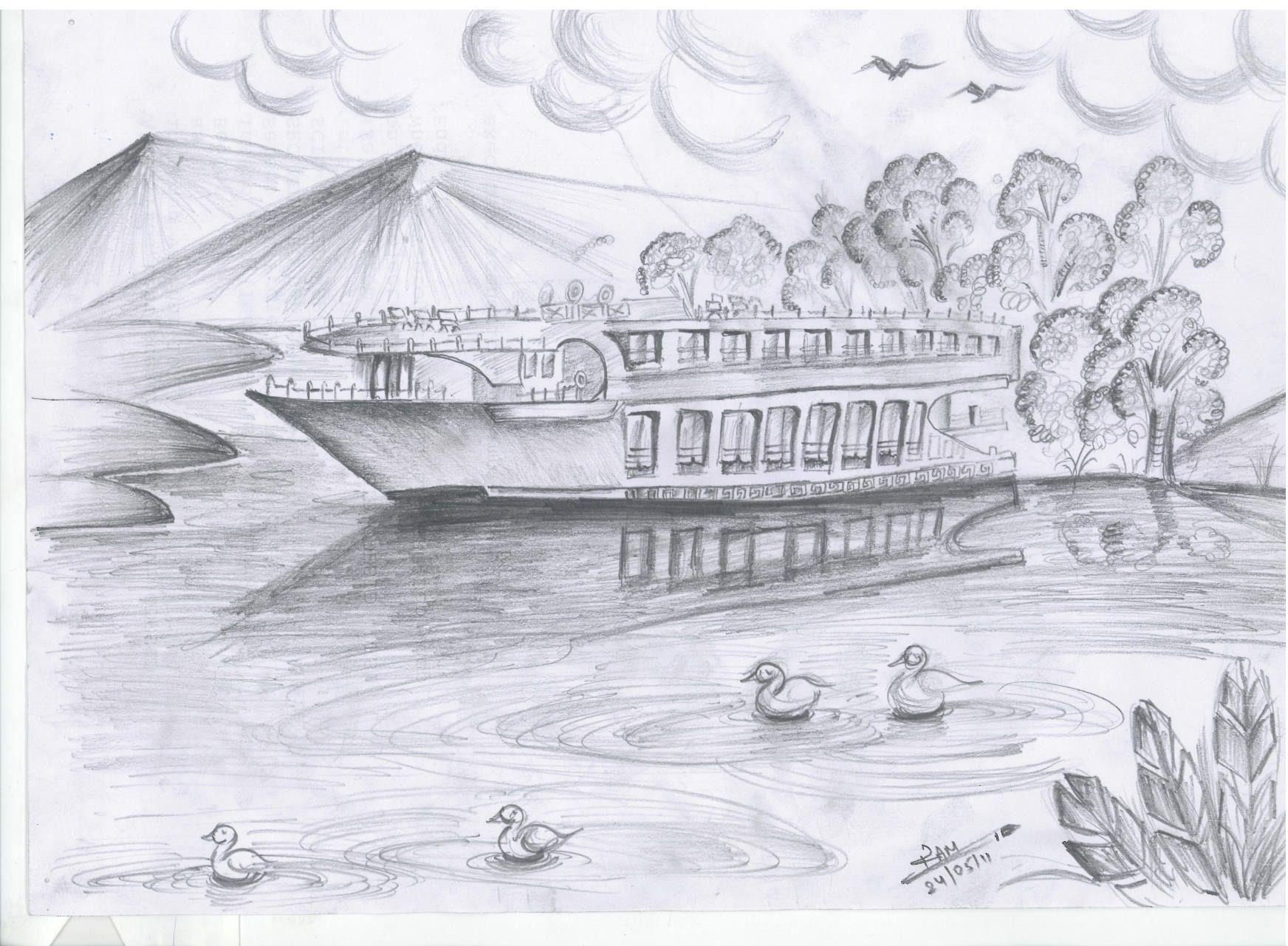 pencil drawing nature 27 hd image wallpaper | pencil drawings