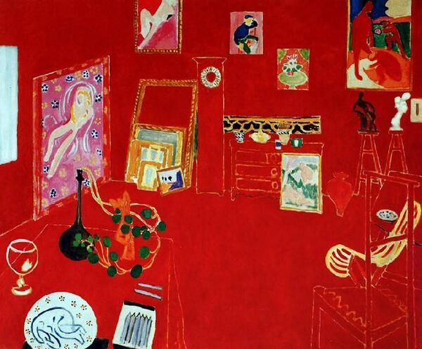 "1973 Vintage MATISSE /""RED STUDIO L/'ATELIER PANNEAU ROUGE COLOR offset Lithograph"