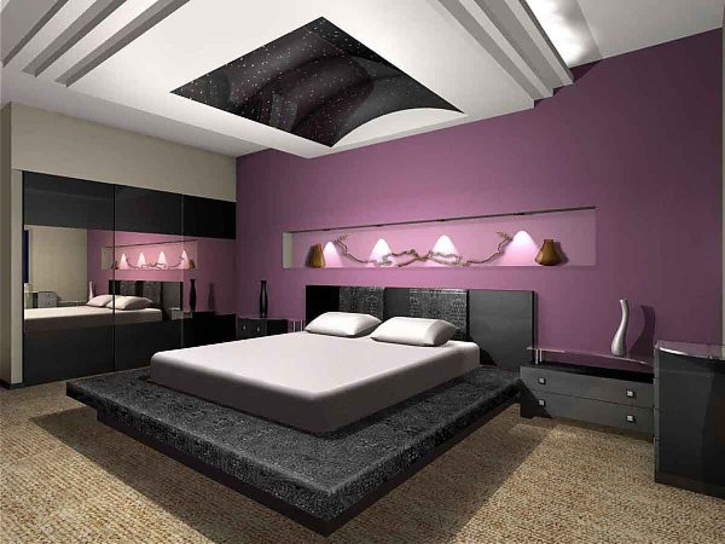 Bedrooms, Impressive Large Space Bedroom Design Inspiration With ...
