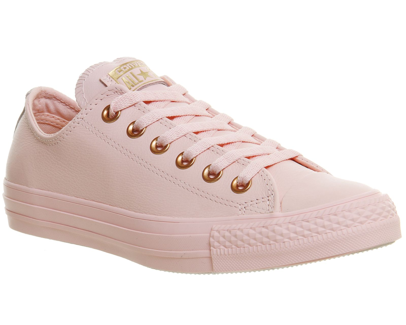 Converse All Star Low Leather Vapour Pink Rose Gold Trainers