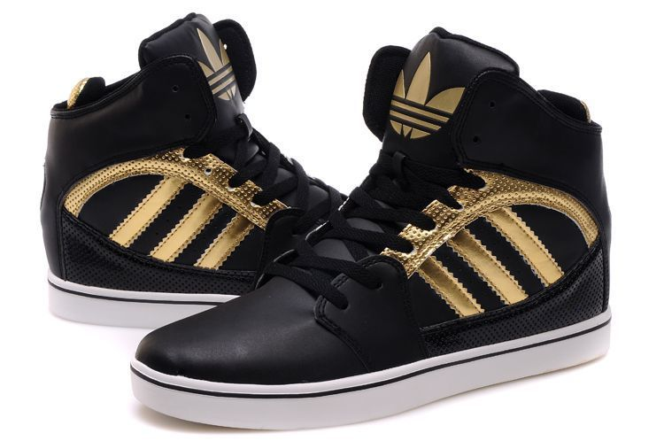 Adidas Shoes High Tops For Boys Gold