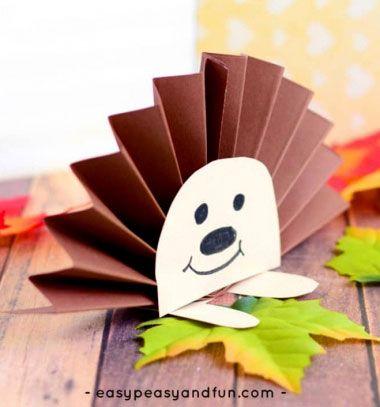 Easy Paper Rosette Hedgehog Fall Paper Craft For Kids Egyszer