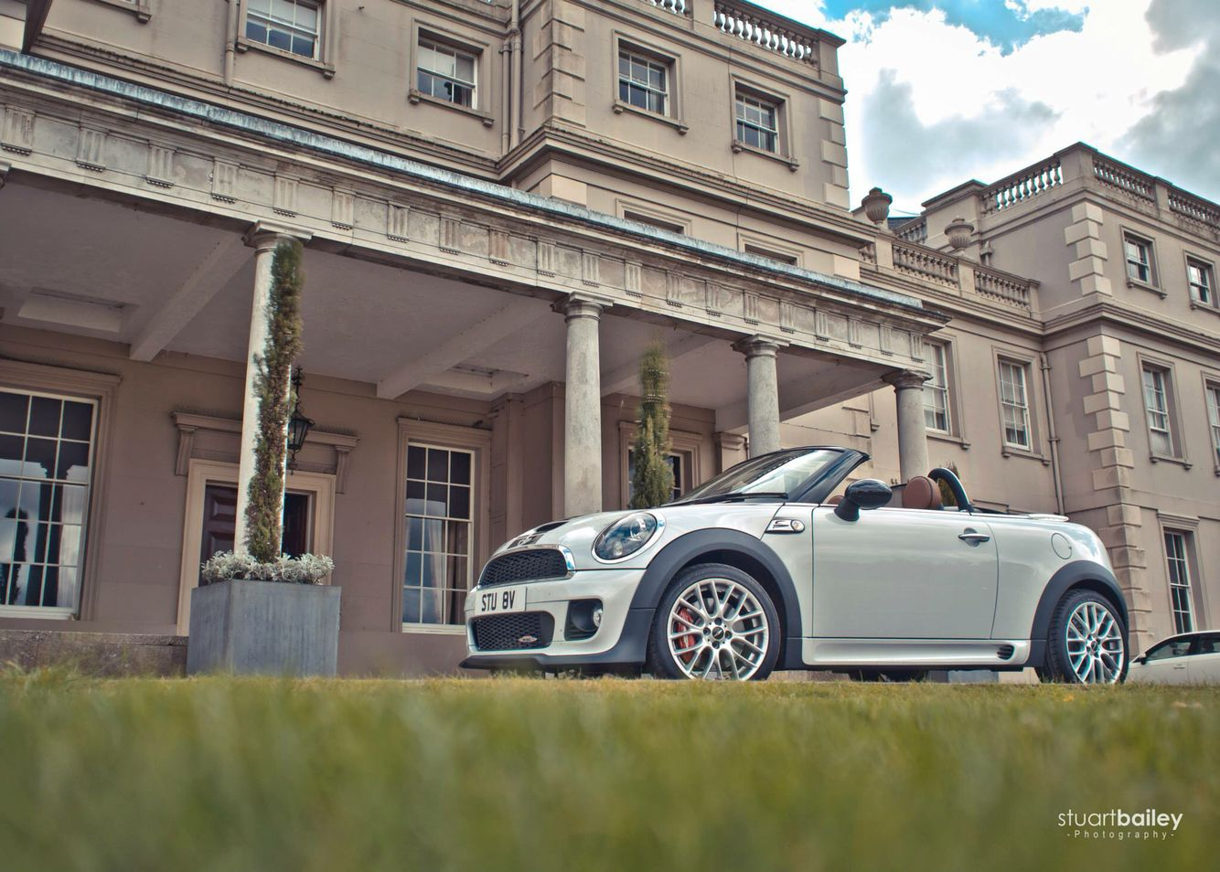Dallas texas french chateau home photograph 4540 - My Mini Jcw Roadster Outside Wokefield Park Mansion House In Reading Uk